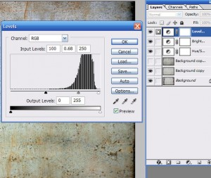 histogram of ajustment tool